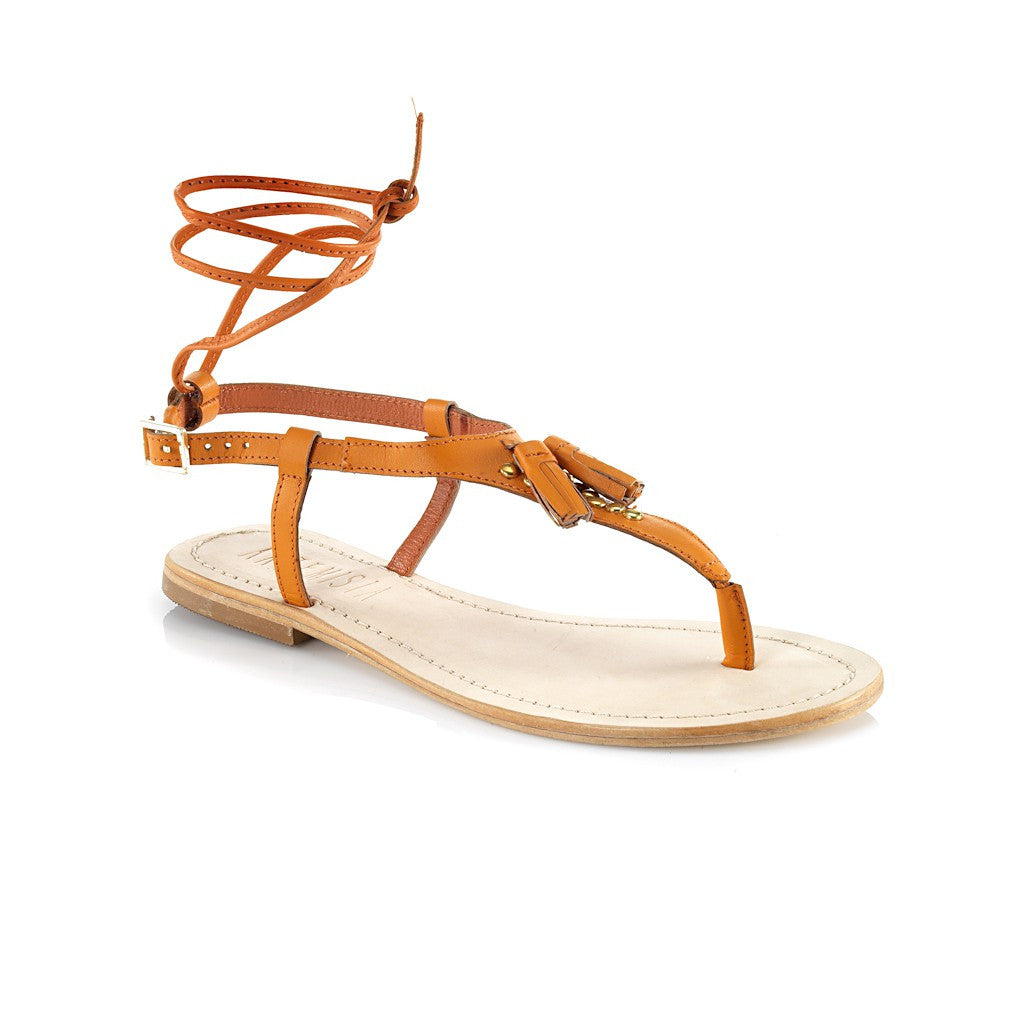 Juno Orange Sandal - Maison du Roi - 1