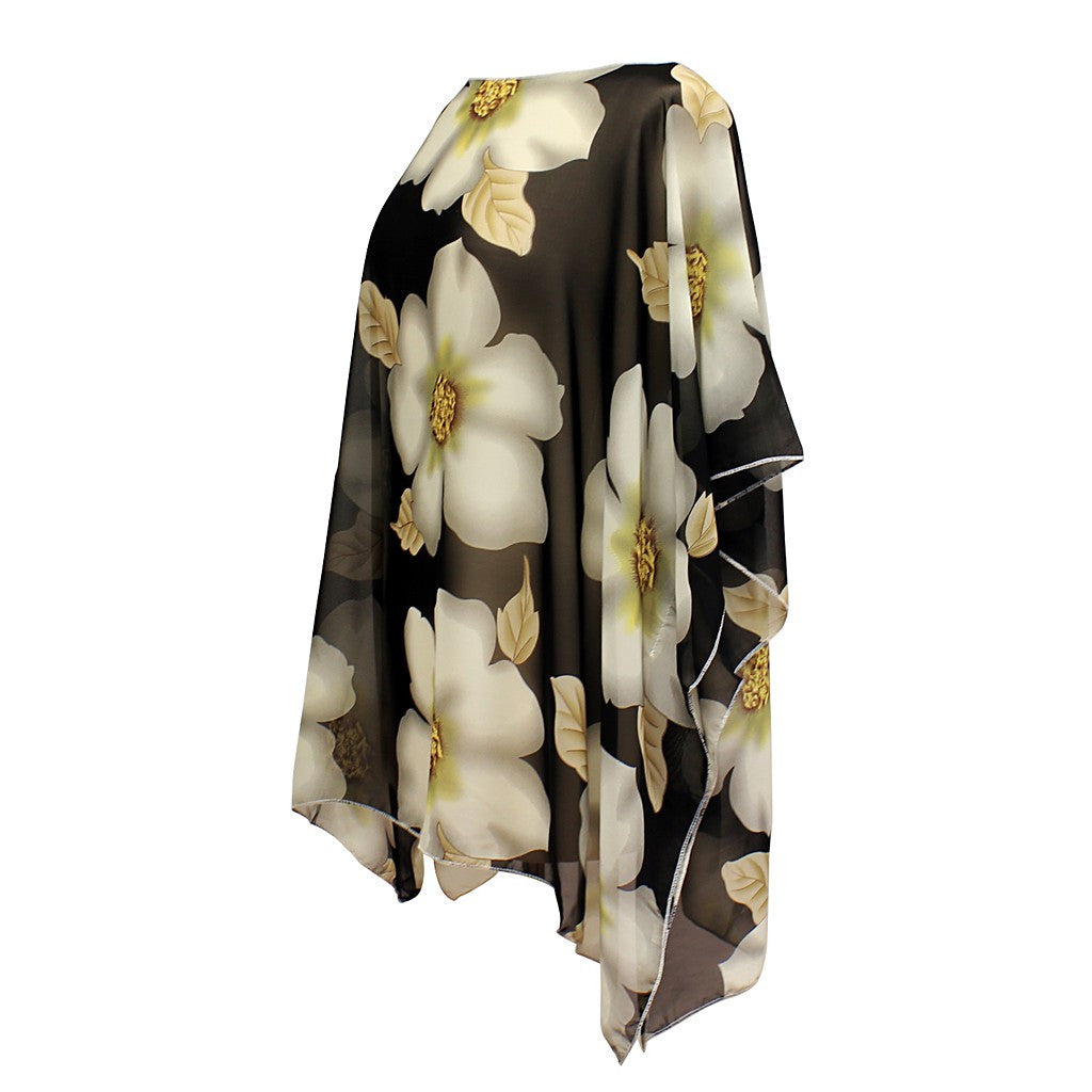 Magnolia Pullover Summer Poncho Cover Up - Maison du Roi - 2