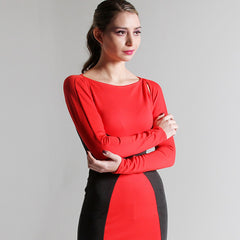 Victoria Color-blocked Ponte Dress - Maison du Roi - 5