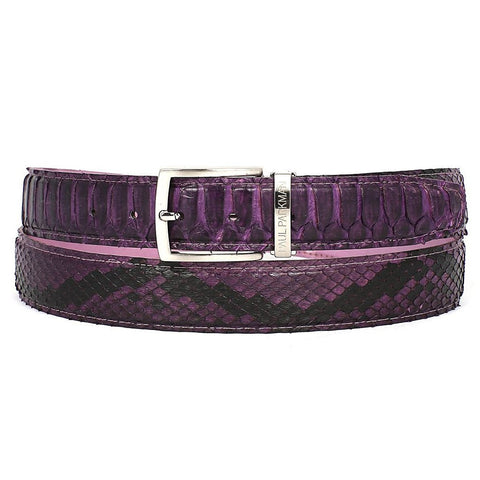 PAUL PARKMAN Men's Purple Genuine Python (snakeskin) Belt (ID#B03-PURP) - Maison du Roi - 1