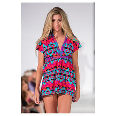 Kaleidoscope Kaylee Signature Tunic Dress - Maison du Roi - 5