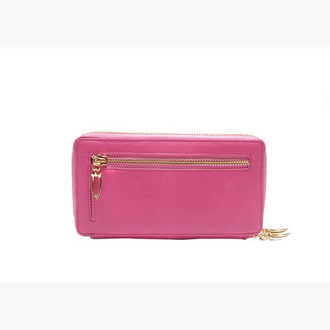 Donington Napa Double Zip Clutch - Similar to Chanel