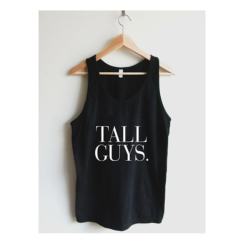 Tall Guys Vogue Typography Unisex Tank Top - Maison du Roi - 3