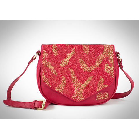 Red & Gold Pointilism Crossbody - Maison du Roi - 1