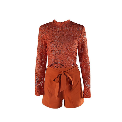 Burnt Orange Play Suit - Maison du Roi - 1
