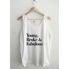 young broke and fabulous typography Unisex Tank Top - Maison du Roi - 3