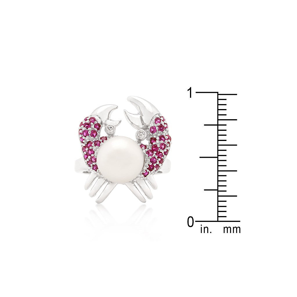 Ruby Pearl Crab Ring - Similar to Cartier - Maison du Roi - 3