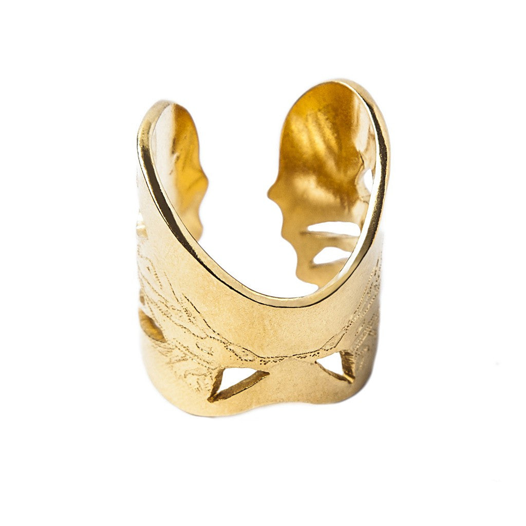 Gold Angel Wings Ring - Similar to Cartier - Maison du Roi - 3