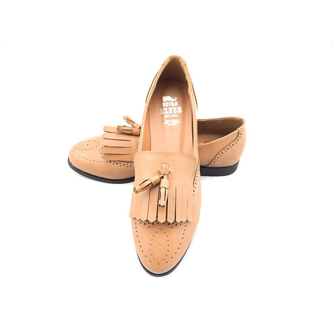 Faisal brown loafers with top and twin tassels - Maison du Roi - 1