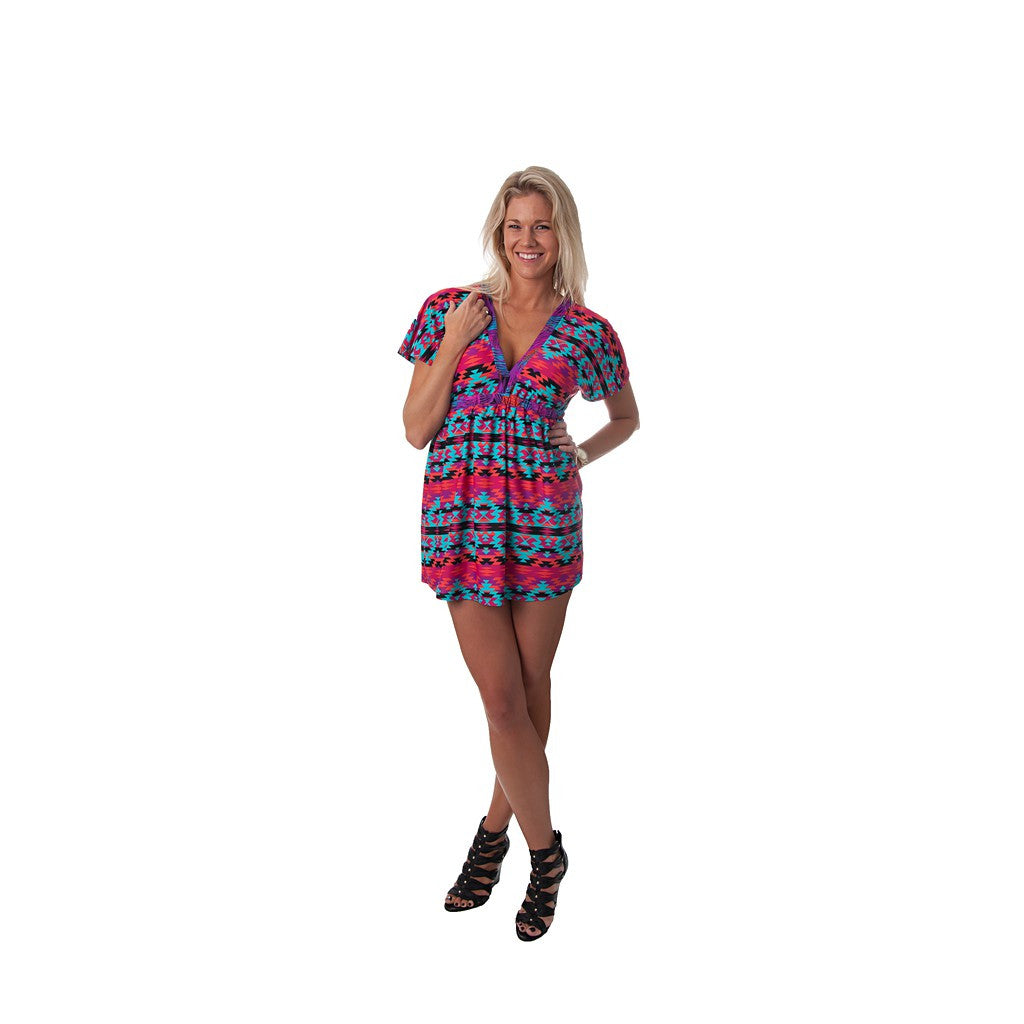 Kaleidoscope Kaylee Signature Tunic Dress - Maison du Roi - 3