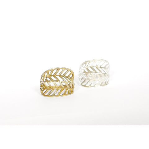 Feather Ring - Similar to Cartier