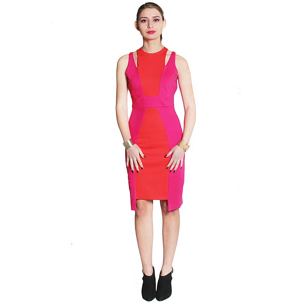 Cleo Color-blocked Ponte Dress - Maison du Roi - 1