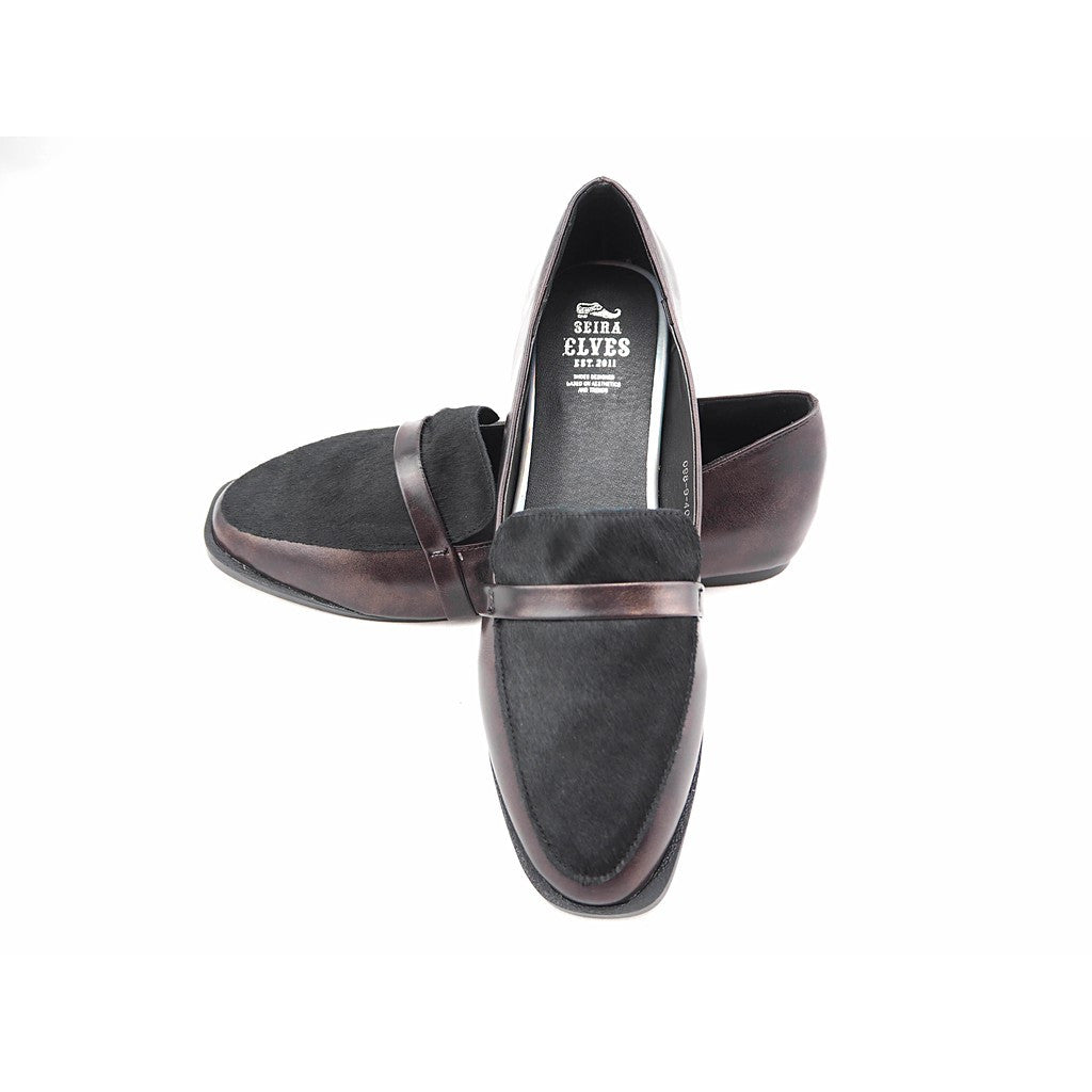 Dave genuine pony leather loafers - Maison du Roi - 1