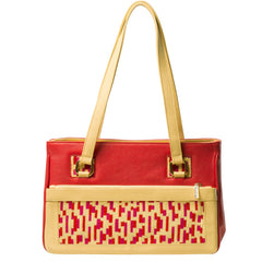 TATI BODUCH Designer Handbag, Mosaic Collection, leather red - Maison du Roi - 2