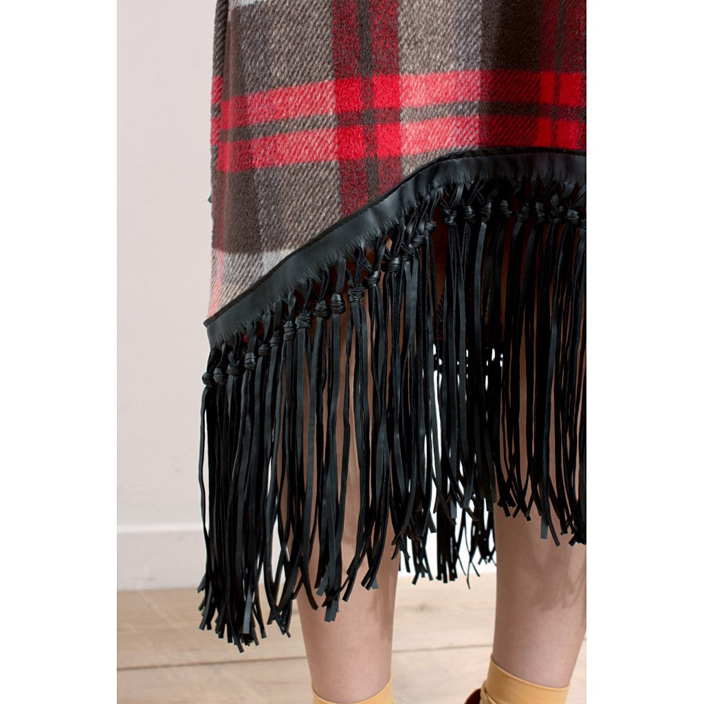 Tartan Oversized Furry Dress - Maison du Roi - 5