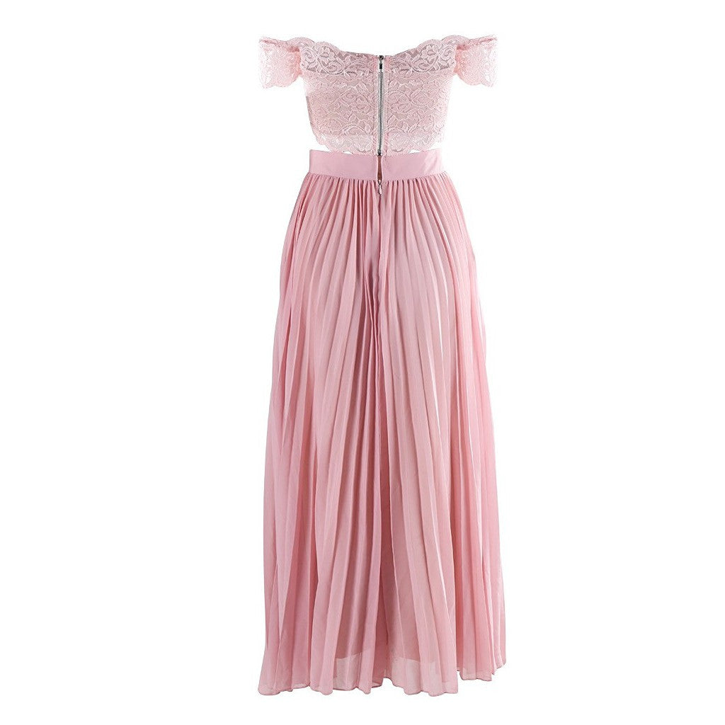 Two Piece Pink Dress - Maison du Roi - 3