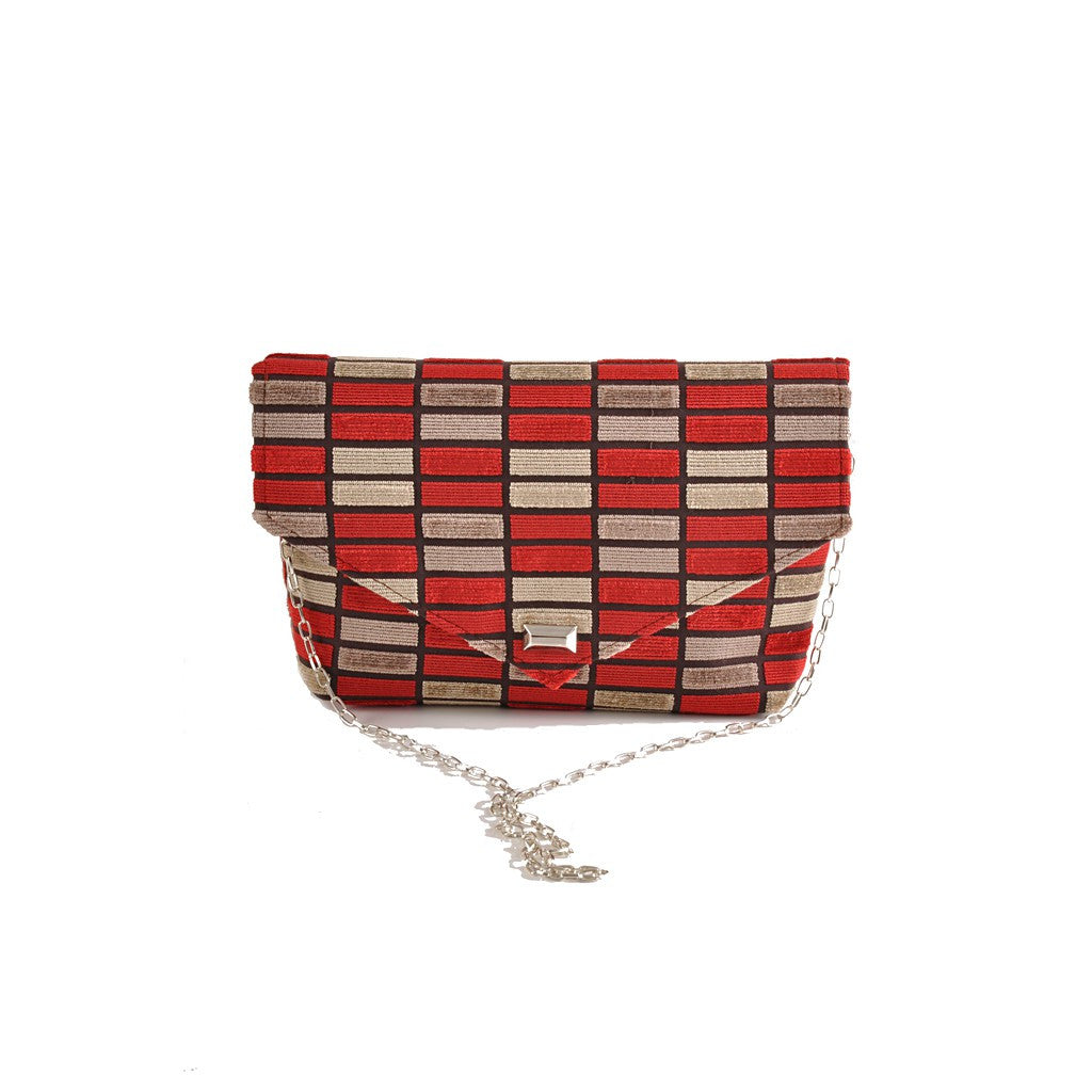 Block Red envelope clutch - Maison du Roi - 1