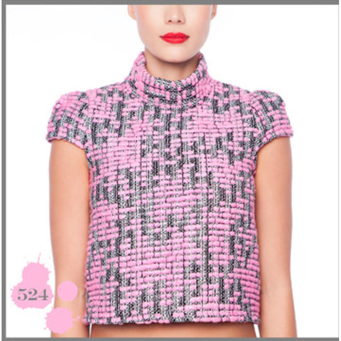 PINK WOOL TOP MADNESS - Maison du Roi