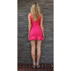 TING-A-LING Tiffany Dress - Flamingo Pink - Maison du Roi - 4