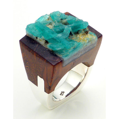 Emerald Wood Ring - Similar to Cartier