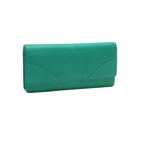 Donington Napa Gusseted Clutch Wallet - Similar to Chanel
