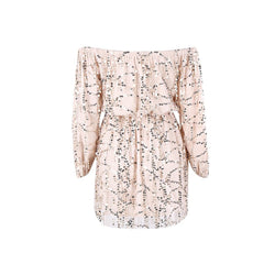 Off Shoulder Beige Sequin Play Suit - Maison du Roi - 3