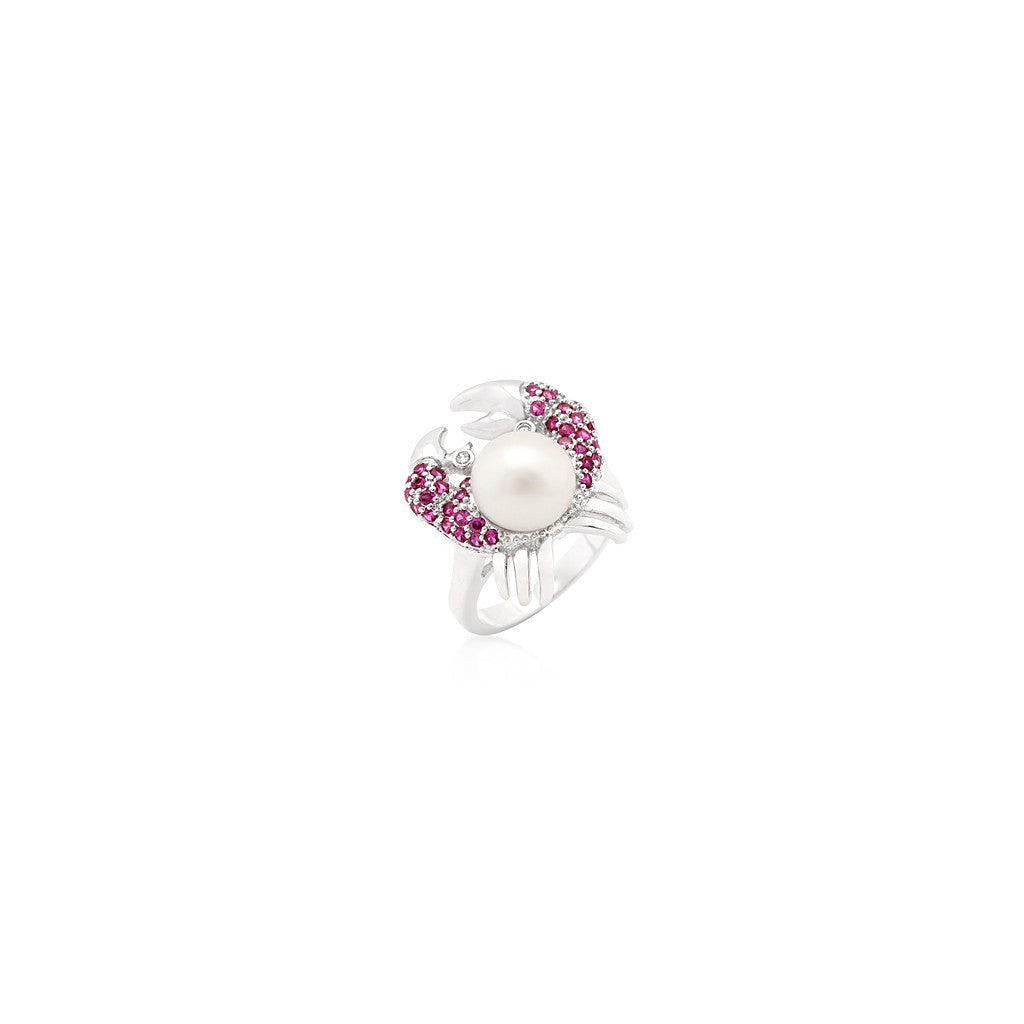 Ruby Pearl Crab Ring - Similar to Cartier - Maison du Roi - 1