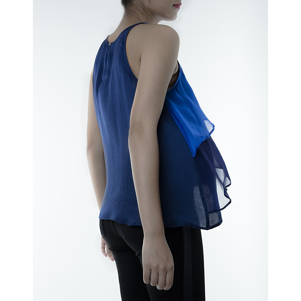 Blue Layered Top - Maison du Roi - 2