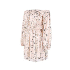 Off Shoulder Beige Sequin Play Suit - Maison du Roi - 1