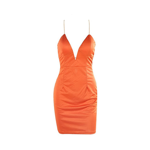 Orange Sexy Dress - Maison du Roi - 1