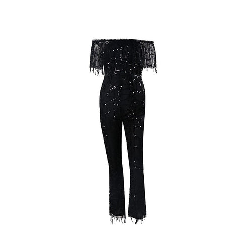 Black Sequin Jumpsuit | Best Selling Dress 2016 - Maison du Roi - 1