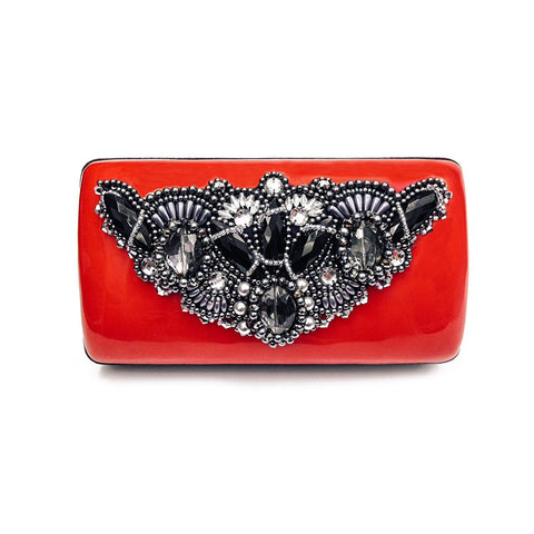 Candy Clutch (Red/Black) - Similar to Chanel - Maison du Roi - 1