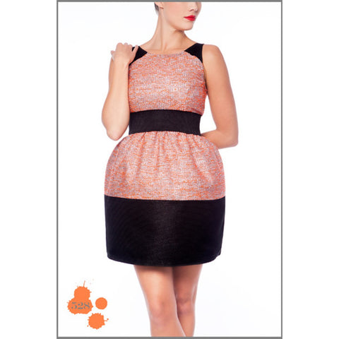 BLACK & ORANGE DRESS MADNESS - Maison du Roi