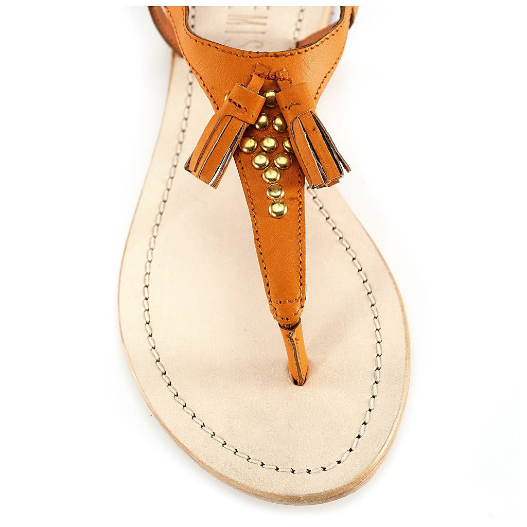 Juno Orange Sandal - Maison du Roi - 2