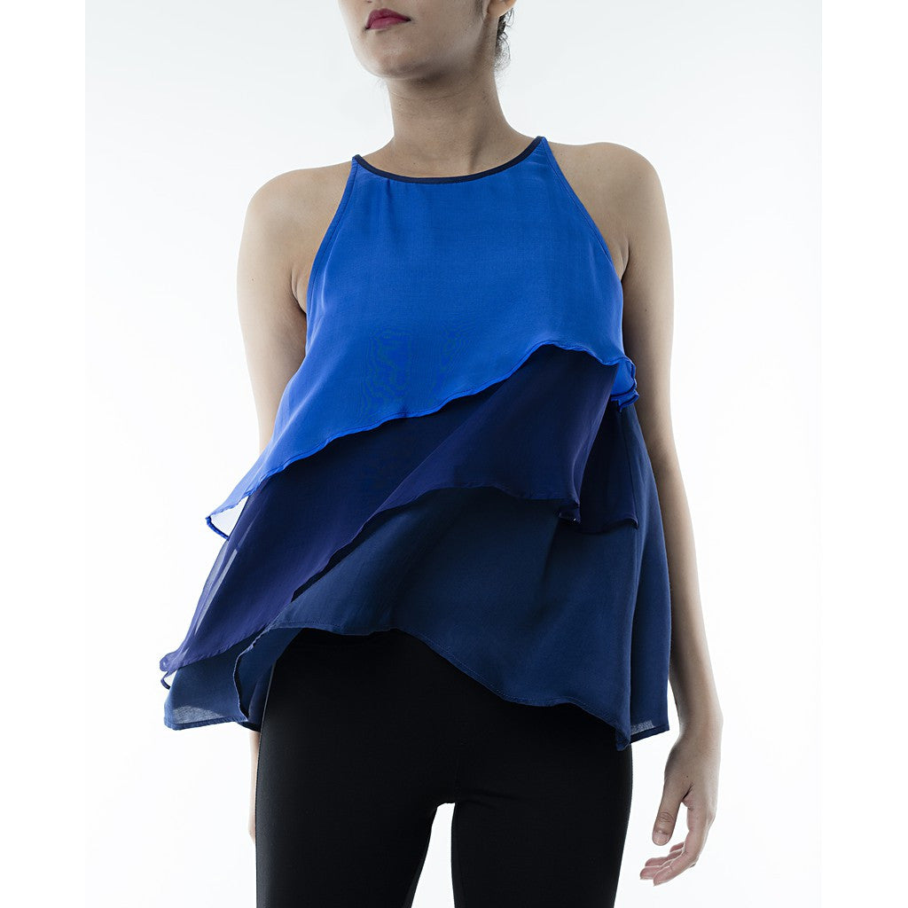 Blue Layered Top - Maison du Roi - 1