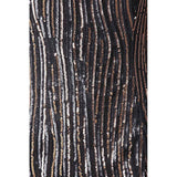 Black mini dress with lightweight golden sequinned mesh - Maison du Roi - 4