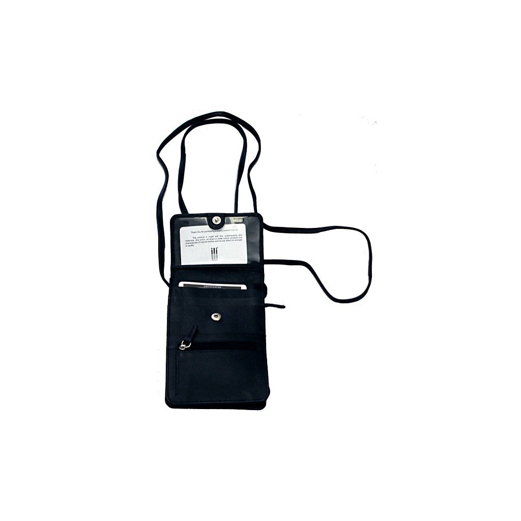 Leather Organizer on a String - Black - Maison du Roi - 2