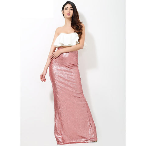 2 Part Pink Sequin Dress - Maison du Roi - 1