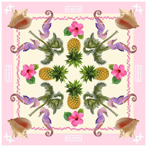 ALOHA club n resort silk scarf - Maison du Roi - 1