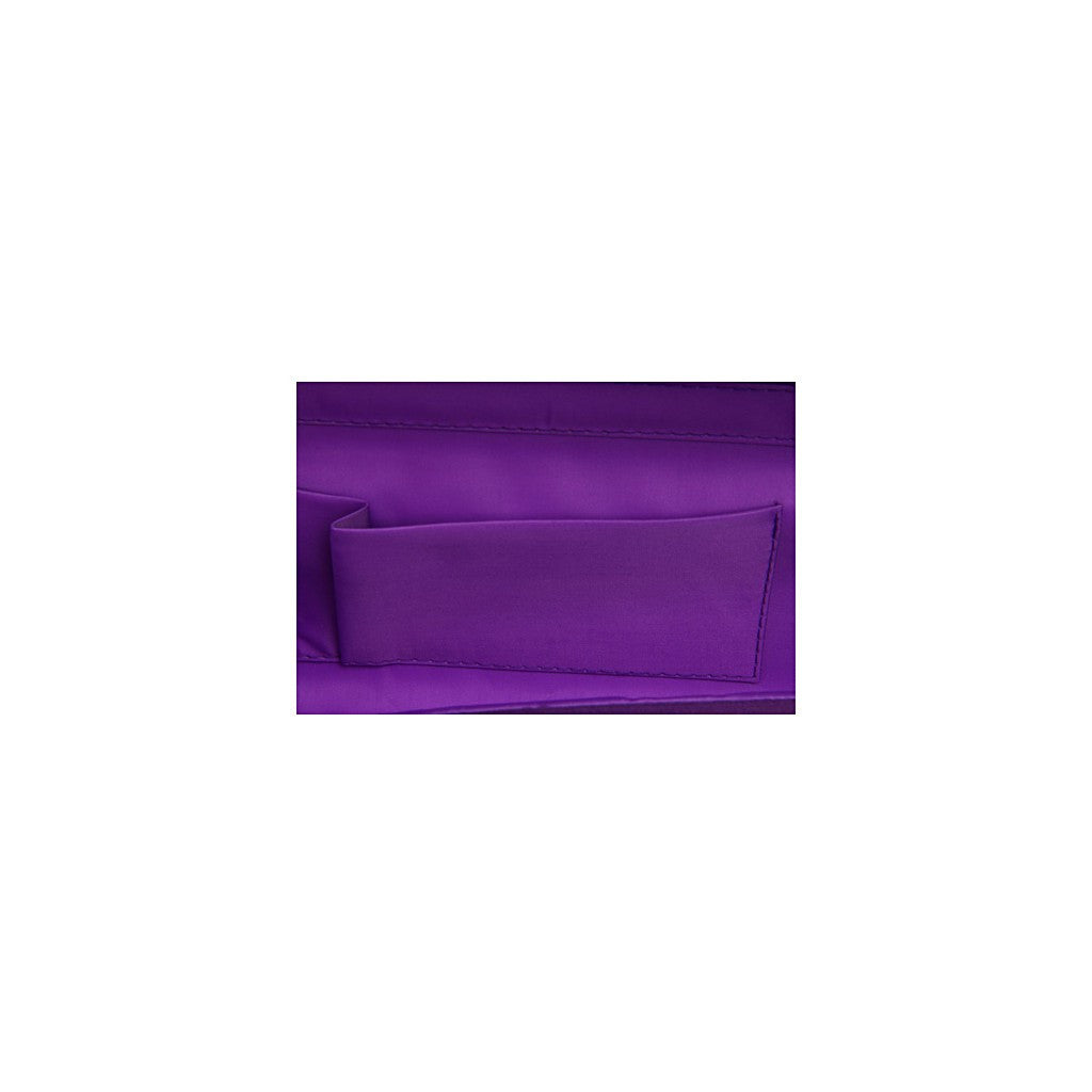Luxury bags | Double Pleat Satin Clutch Evening Handbag - Similar to Chanel - Maison du Roi - 4