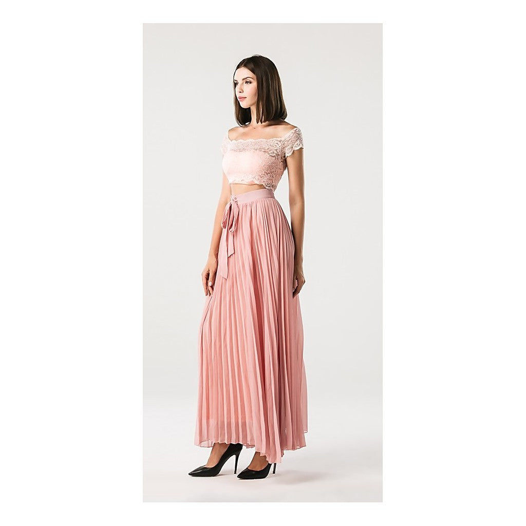 Two Piece Pink Dress - Maison du Roi - 1