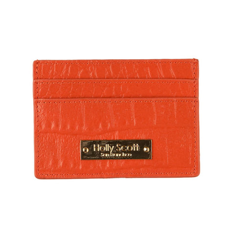 Stephanie Card Holder - Orange  - Similar to Chanel - Maison du Roi - 1