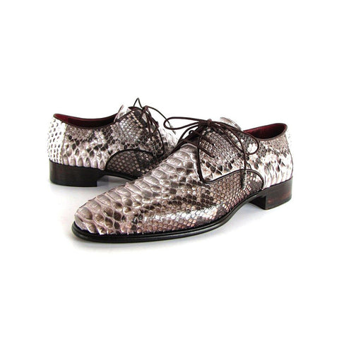 Paul Parkman Men's Natural Genuine Python Derby Shoes (ID#0787SNK) - Maison du Roi - 1