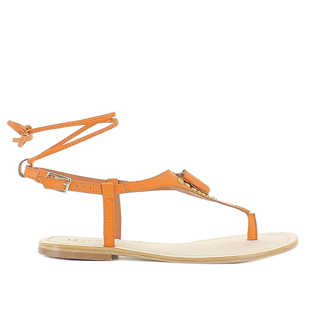 Juno Orange Sandal - Maison du Roi - 4
