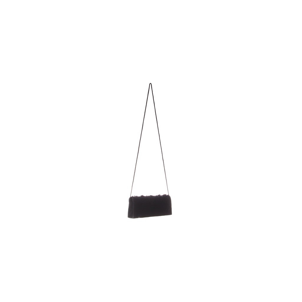 Luxury bags | Black Satin Ruffled Purse - Similar to Chanel - Maison du Roi - 3