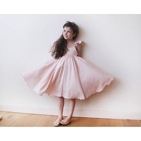 Pink girls butterfly dress - Maison du Roi - 1