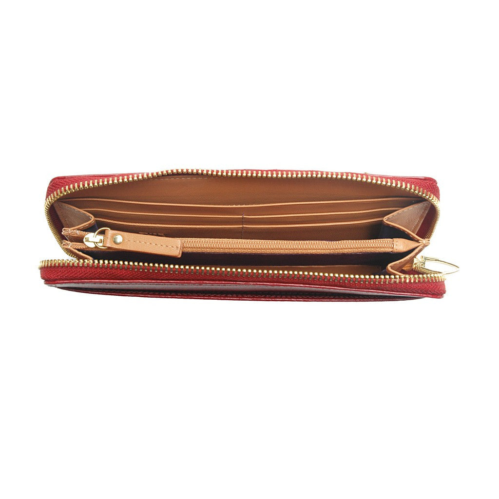 Madison Single Gusseted Clutch Wallet - Similar to Chanel - Maison du Roi - 3