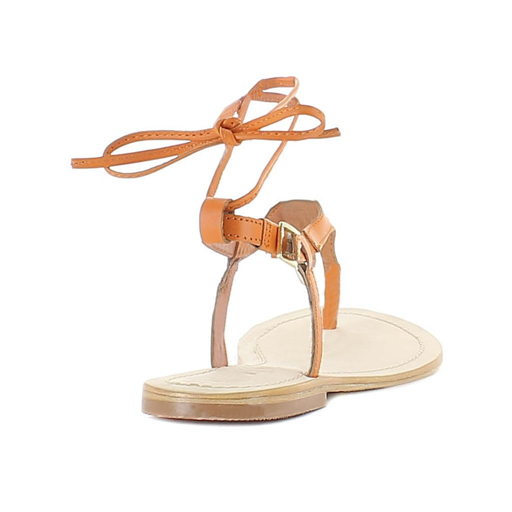 Juno Orange Sandal - Maison du Roi - 5