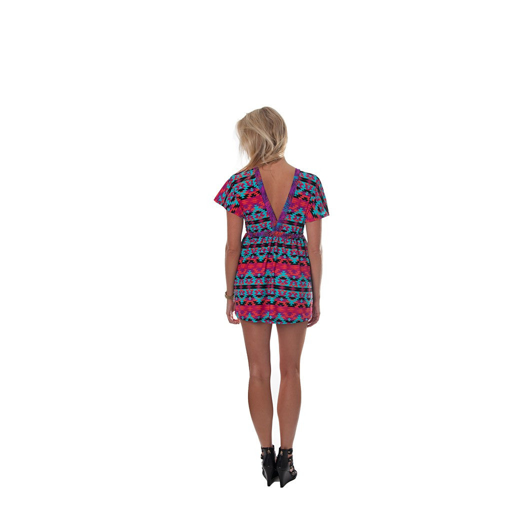 Kaleidoscope Kaylee Signature Tunic Dress - Maison du Roi - 4