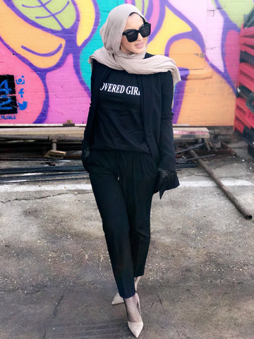 Covered Girl Logo - Black